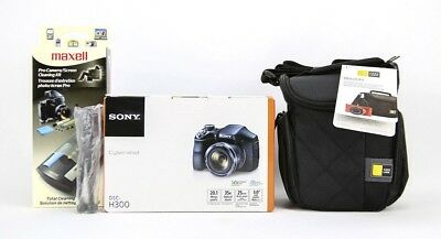 Sony Cyber-shot DSC-H300 Digital Camera Bundle -20.1MP- 35X Optical Zoom - Black