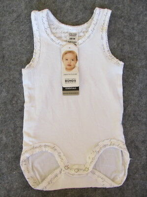 Brand New White Bonds Baby White Bamboo Jumpsuit RRP$12.95 -Free Postage!!