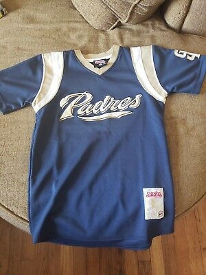 715dafe45 San Diego Padres Stitches MLB Baseball Youth Medium Pullover Jersey Kids  Womens