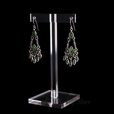 Acrylic Clear Earring Display T-Bar Stand 4.5""