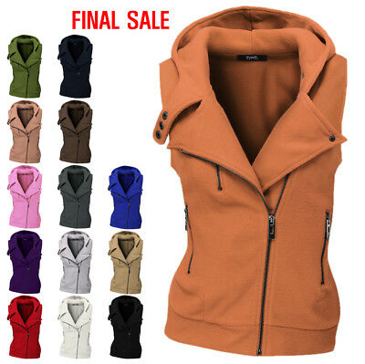 [FINAL SALE]Thanth Womens Zip up Vest with Hood