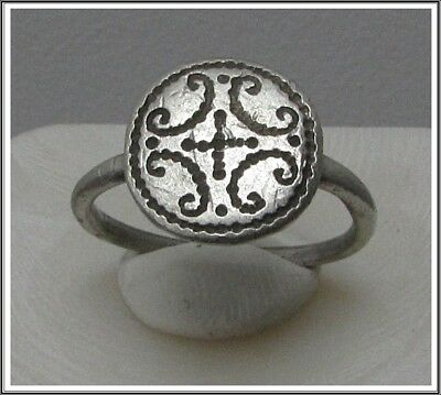Ancient Silver Byzantine  Ring ** CROSS **AMAZING**