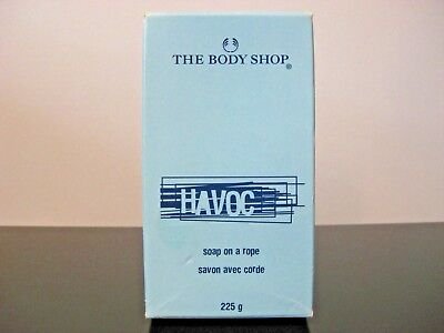 RARE VINTAGE The Body Shop Havoc Mens Fragrance Soap Bar Soap On A Rope 225g