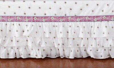 Pottery Barn Kids Brooklyn Floral Baby Crib Bed Skirt