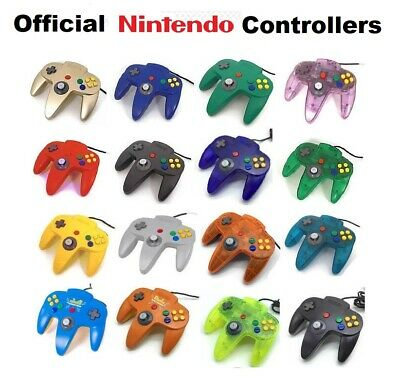 GOOD WORKING Genuine NINTENDO 64 CONTROLLER ORIGINAL N64 Rare Clear Red Green