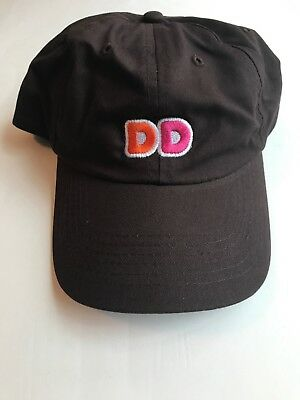 NEW  Brown DD Dunkin Donuts Uniform Embroidered Hat cap adjustable 9f1e1fb14158