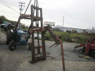 New Holland 90 Round Hay Bale mover stacker loader 3 pt hitch good