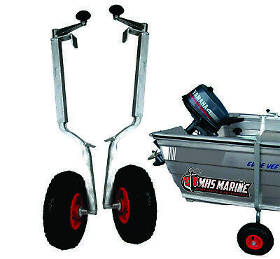 Boat Tinnie Mover - Pneumatic Wheels 260mm x 85mm Hull Height: 365mm - 590mm