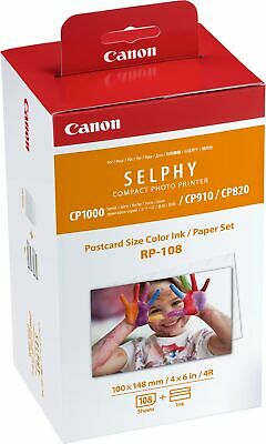Canon new Selphy High-Capacity Postcard Size Ink and Paper Pack RP-108
