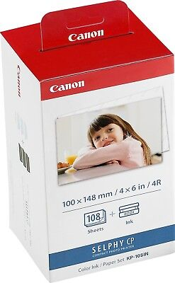 Canon new Postcard Size Ink and Paper Pack KP-108IN