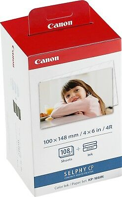 Canon new Selphy Postcard Size Ink and Paper Pack KP-108IN