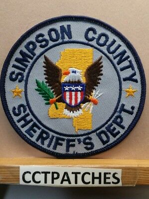 Simpson County, Mississippi Sheriff (Police) Shoulder Patch Ms