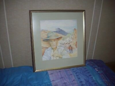 Picture artist N Readell in glass frame title unknown size 57 x 61cm