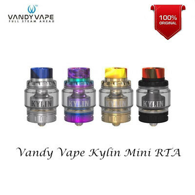 Authentic Vandy Vape Kylin Mini RTA Verdampfer Honey Comb Airflow Fast Shipping