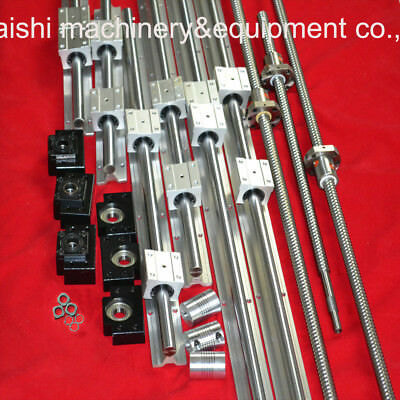 2 X SBR16-400mm LINEAR RAIL /& 4SBR16UU /& 1x RM1204-400mm Ballscrew/&1BF10//BK10set