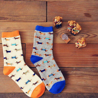 2 Pairs of Dachshund Sausage Dog Socks Adult Sizes Quality Mens & Womens