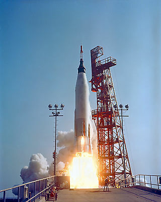 Launch Of Faith 7 (Ma-9) From Pad 14 Gordon Cooper - 8X10 Nasa Photo Print