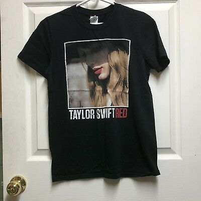 Taylor Swift 2013 Red Concert Tour T-Shirt Small Black FREE SHIPPING