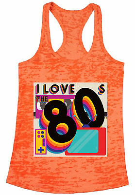 8dda9851bad386 80s Workout Tanks 80s Costumes 80s Burnout Racerback Tank Tops 80s  Accessories