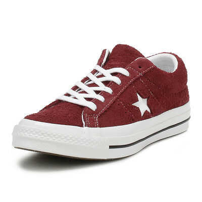 37af19f70b1 Converse One Star Mens Ox Trainers Deep Bordeaux Vintage Suede Skate Shoes