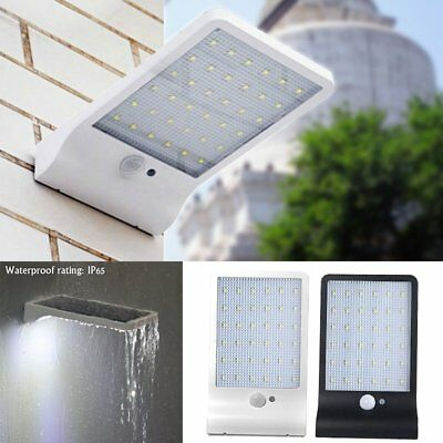 36LED Solar Powered Wall Lights Motion Sensor Lamp Outdoor Waterproof Light PO