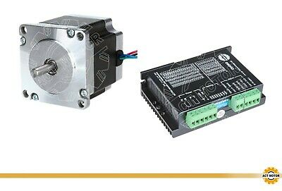 DE Free 1PC Nema23 Stepper Motor 23HS6430 3A 56mm 160oz φ 6.35mm+Driver DM542
