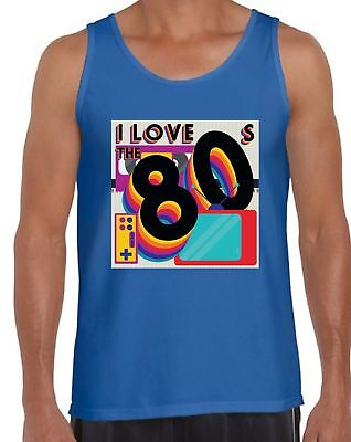 80s Workout Tanks 80s Costumes for Men 80s Party Disco Tank Tops 80s Accessories