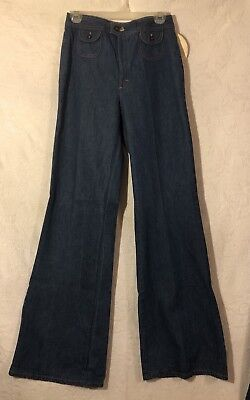 """Vintage 70's Landlubber Jeans Size 11, Deadstock With Tags, High Waist, 12"""" Rise"""