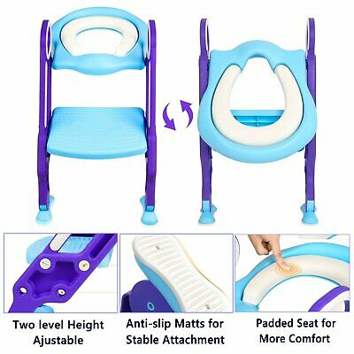 Baby Soft Toddler Toilet Training potty Seat - 2 step Ladder Toilet trainer Kids
