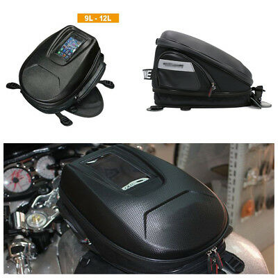 Durable Waterproof Carbon Fiber Look Motorcycle Tank Bag Riding Bag Luggage Bag