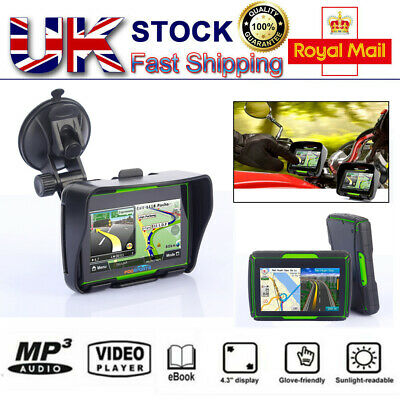 Motorcycle Waterproof Touch Screen GPS Navigation Navigator Bluetooth Free maps