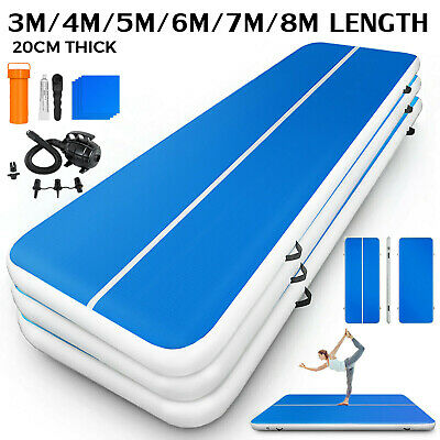 Air Track Floor Home Gymnastics Tumbling Mat Inflatable GYM +Pumpe