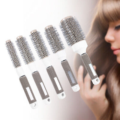 Nano Thermal Ceramic Ionic Round Barrel Hair Brush Comb for Hair Drying 19mm