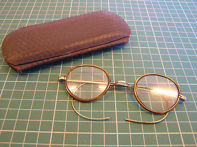 Vintage Faux Tortoiseshell Glasses Spectacles With Case - Good Condition
