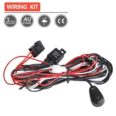 Relay Switch Fuse ON/OFF Switch 2.5M 1 Lead Wiring Loom Harness Kit 1 Work Light