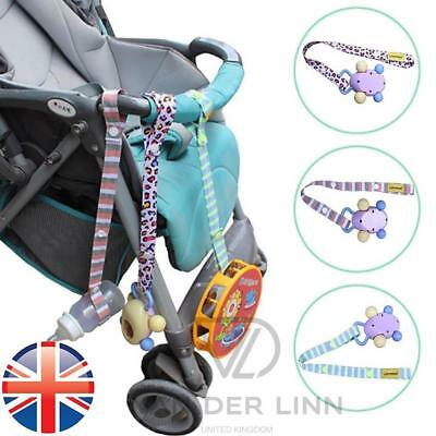 *UK Seller* 1~3X Toy Ties Pushchair Buggy Seat Strap Keep Toys Attached