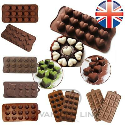 *UK Seller* Silicone ASSORTED Chocolate Ice Cube Cake Bakeware Mold Mould