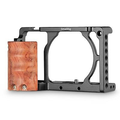 SmallRig Cage with Wooden Handgrip for Sony A6000/A6300 Camera Rig Kit 2082