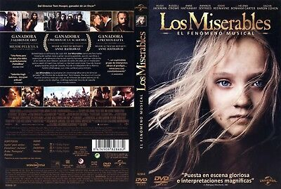 LOS MISERABLES. dvd.