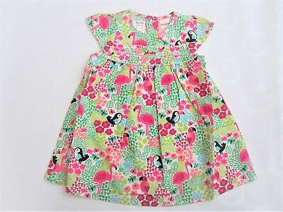 Girls Baby Toddler Dresses Flamingo Bird Print Cotton Dress 3-6 m 9-12m 12-18m