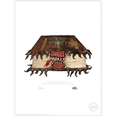 Harry Potter : The Monster Book of Monsters Limited Edition Print from MinaLima