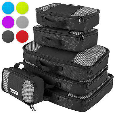 Savisto Packing Cubes 6 Set Luggage Organiser Travel Compression Suitcase Bags