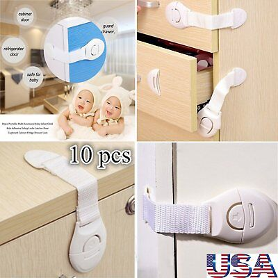 10PCS Magnetic Cabinet Drawer Cupboard Locks for Baby Safety Child Proof Best US
