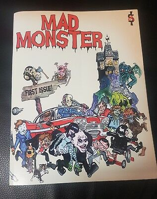 Mad Monster Magazine - First Issue - Rare Scary Horror Film Comic
