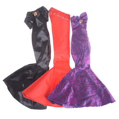 Fashion Ruffle Wedding Party Gown Mermaid Dresses Clothes For  Doll GiftYR