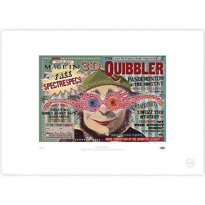 Harry Potter : The Quibbler Spectrespecs Limited Edition Print from MinaLima