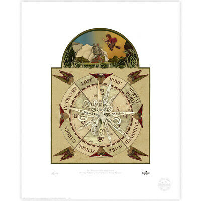 Harry Potter : The Weasley Family Clock Limited Edition Print from MinaLima