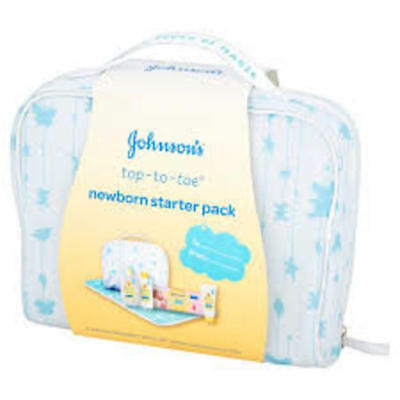 Johnson's Top-To-Toe Newborn Starter Pack.  With matching Changing Mat!