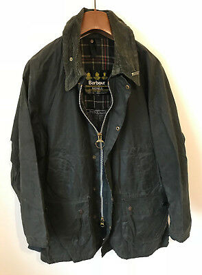 Barbour Bedale Wax Jacket! Mens L/xl Blue! Coat! 46-48 Chest! Beaufort!