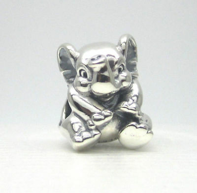 No.68 Authentic Pandora Lucky Elephant Charm #791902 W/ Pouch & Polishing cloth!